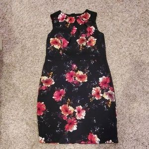 Dress Barn Black Floral Sheath